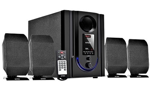 Intex IT-301 FMUB 4.1 Wooden Subwoofer Multimedia Speaker