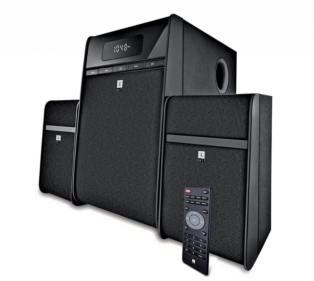 iBall Tarang Classic 2.1 Multimedia Speaker with Bluetooth, USB, FM Radio & Remote Control